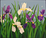 eater-based oil painting of Irises